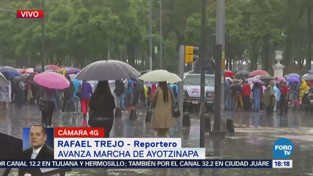 Marcha conmemorativa, Ayotzinapa, provoca, caos vial