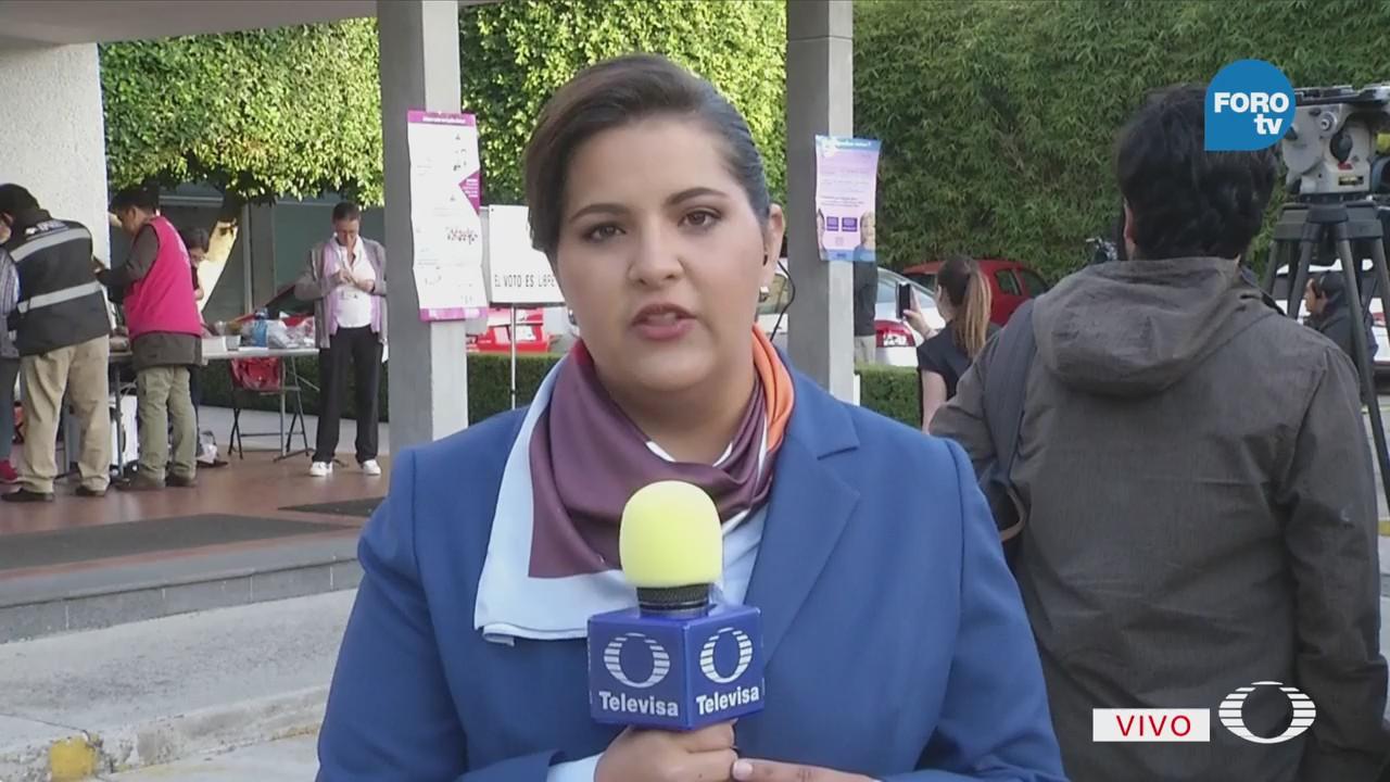 Funcionarios Casilla Instalan Mamparas Donde Votará Meade