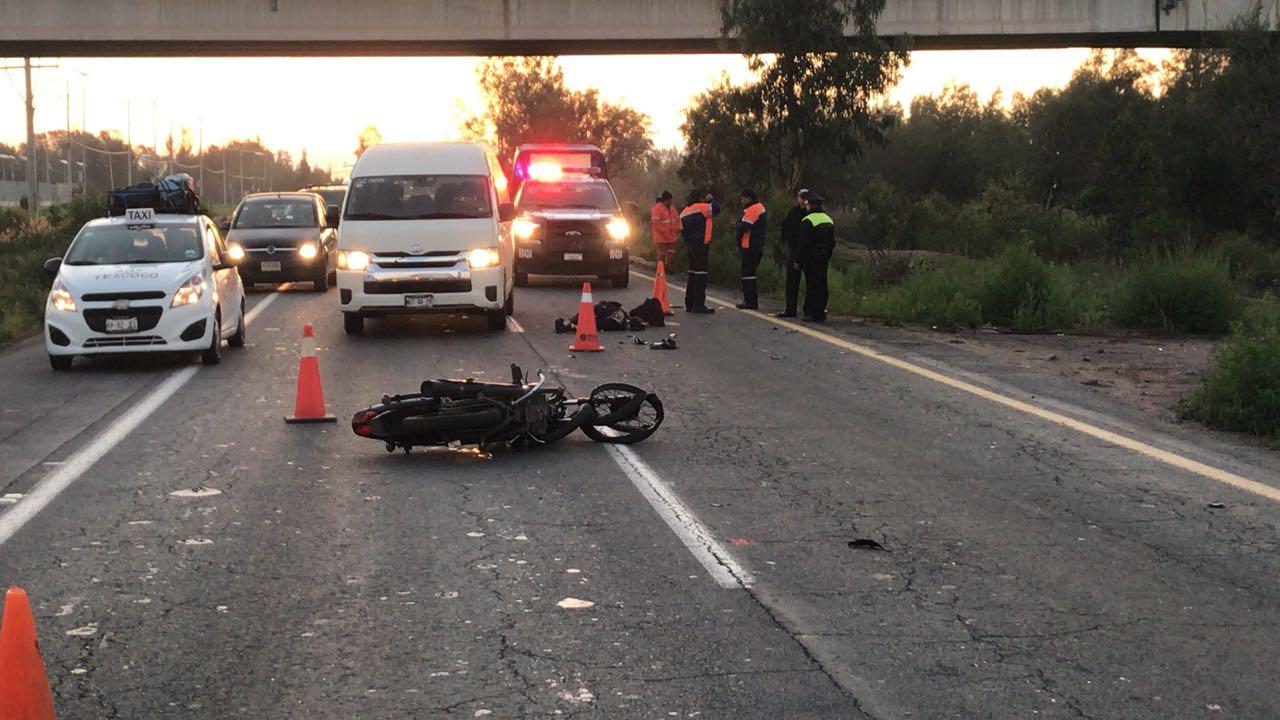 Muere motociclista en la autopista Peñón-Texcoco