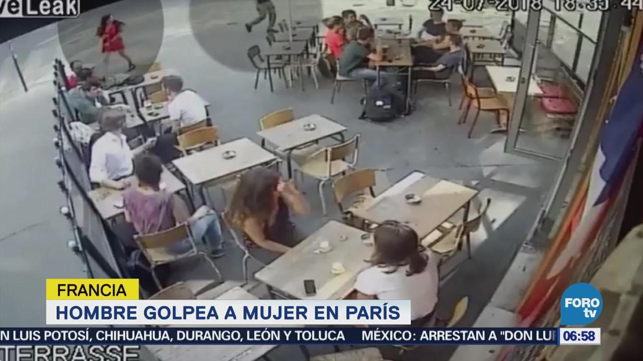 Mujer denuncia a hombre que la golpeó en bar de París