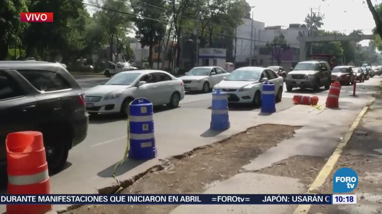 Obras inconclusas sobre Circuito Interior afectan tránsito