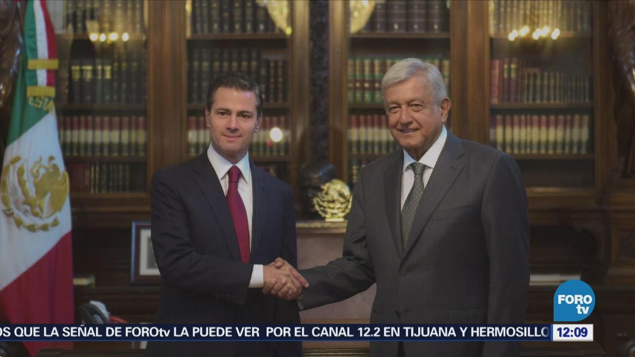Oficina de Presidencia difunde fotos de la reunión López Obrador-EPN