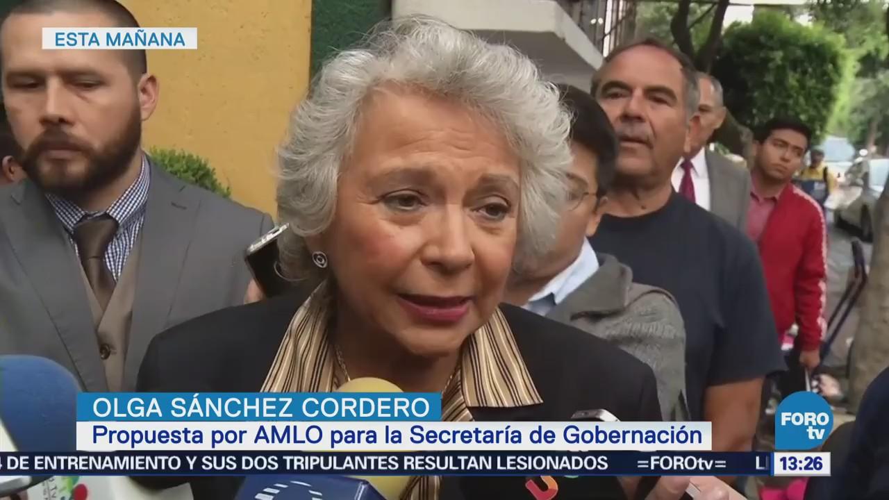 Olga Sánchez Cordero Afirma Tener Varios Borradores Iniciativas Ley