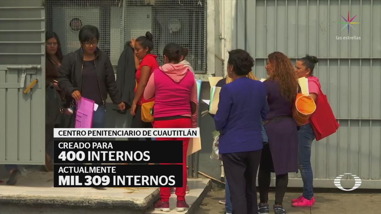 Penal de Cuautitlán reporta sobrepoblación de internos