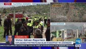 Peritos inician trabajos para el levantamiento de cuerpos en Tultepec
