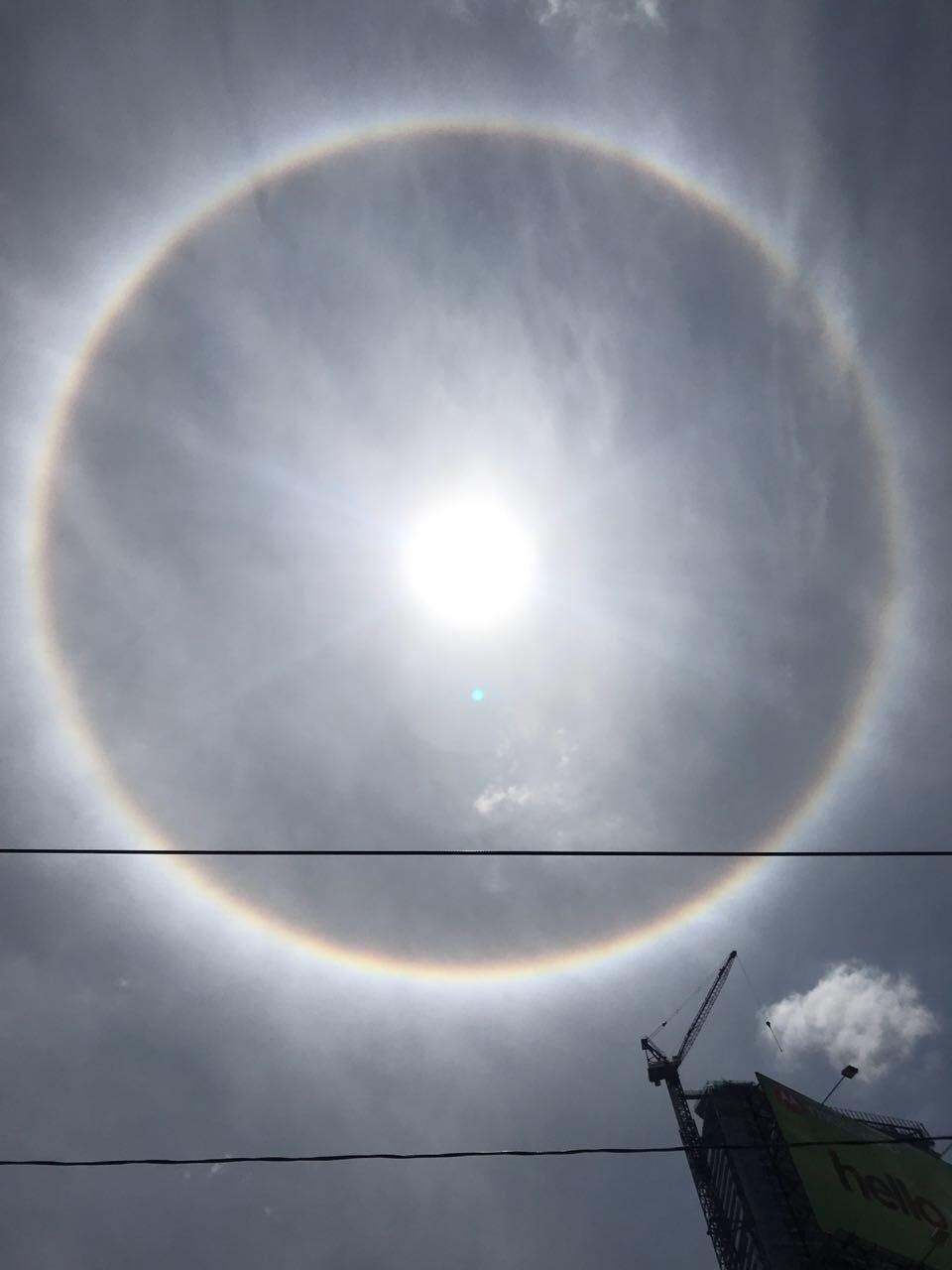 Qué es halo alrededor del sol arcoíris fenómeno natural