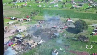 Polvorines que explotaron en Tultepec sí tenían permiso