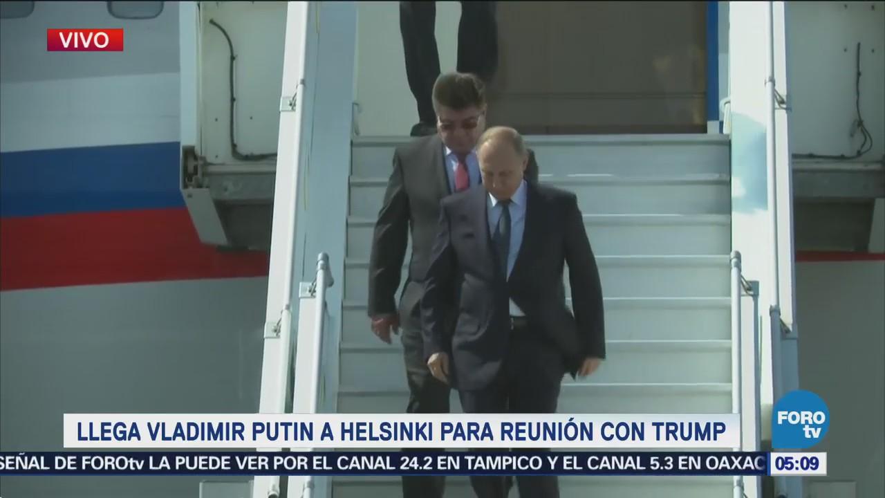 Putin llega a Helsinki para reunión con Trump
