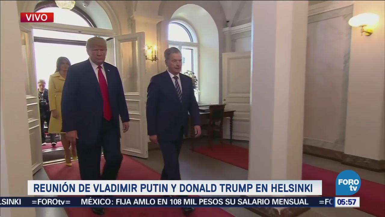 Putin y Trump llegan al Palacio Presidencial de Helsinki