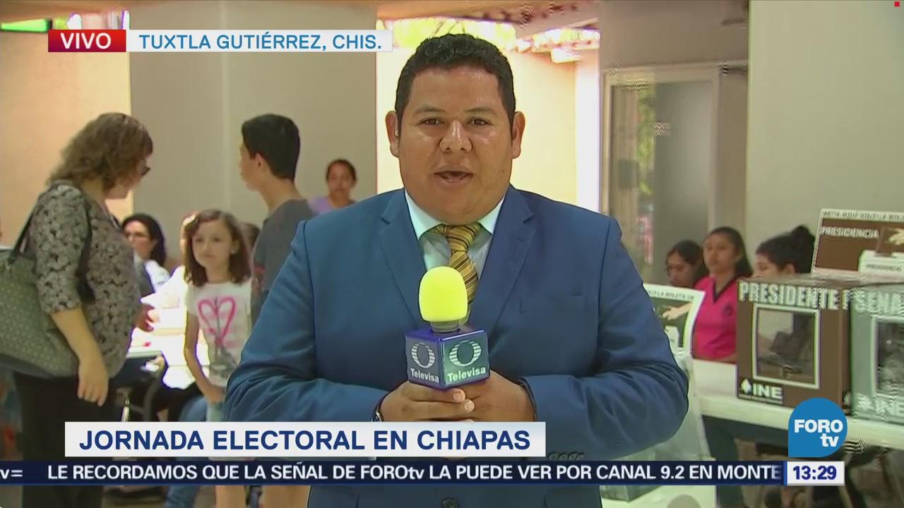 Reportan Incidencia Durante Jornada Electoral Chiapas