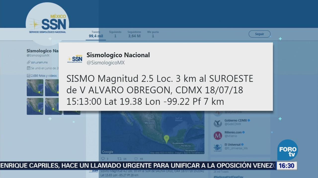 Reportan Sismo Epicentro Ciudad De México