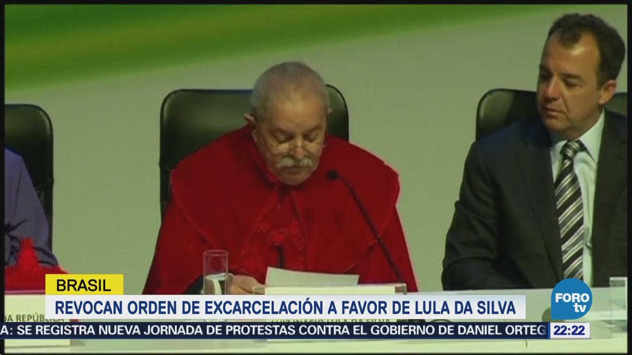 Revocan Orden Excarcelación Favor Lula Silva