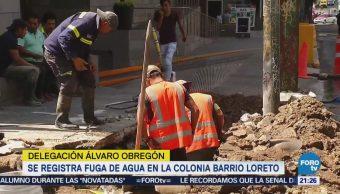 Registra Fuga Agua Delegación Álvaro Obregón