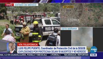 Se suspende la venta de pirotecnia en Tultepec luego de explosiones