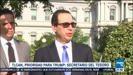 Tlcan, Prioridad Para Trump Secretario Tesoro