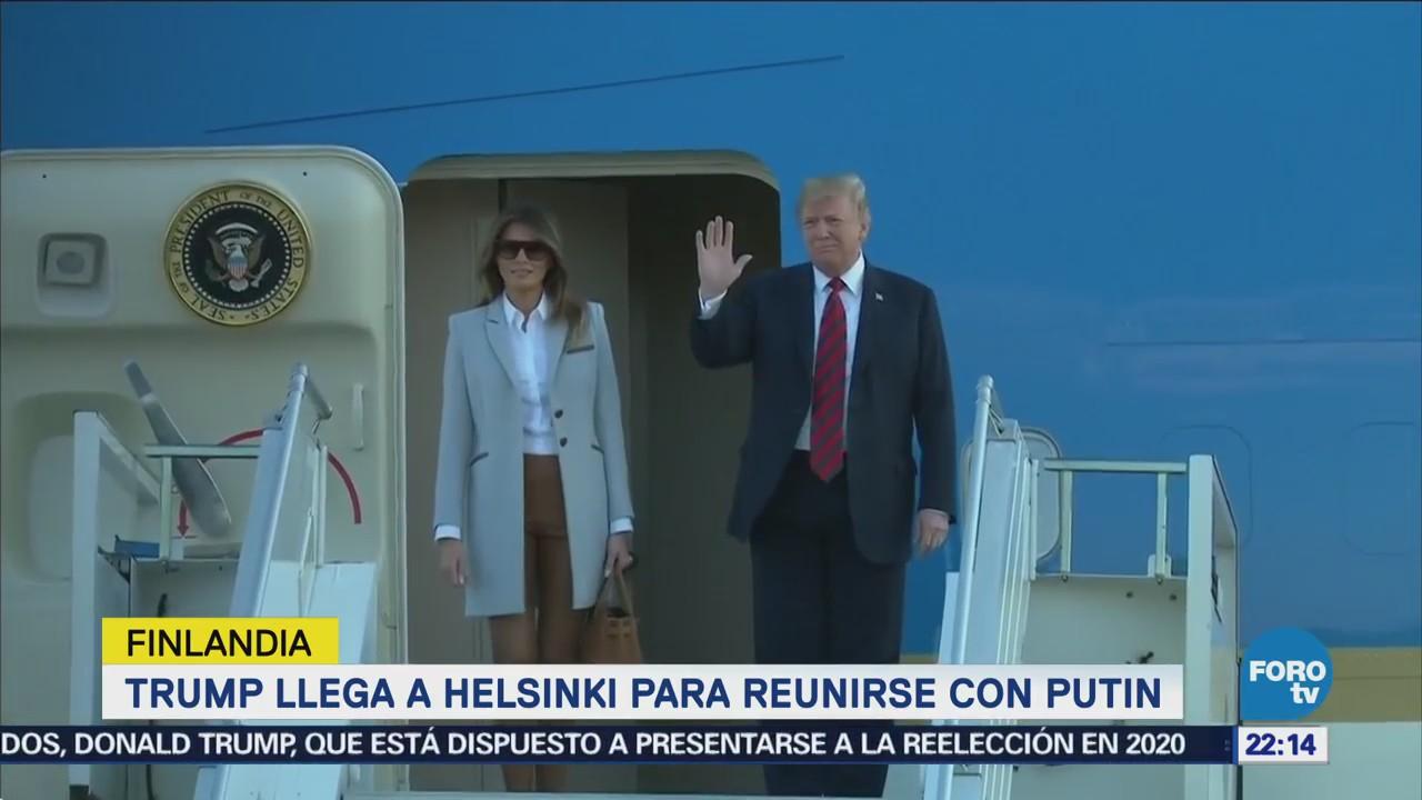 Trump Llega Helsinki Reunirse Vladimir Putin
