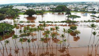 Tormenta Lane provoca inundaciones en Hawai