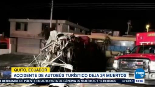 Accidente Autobús Turístico 24 Muertos Ecuador