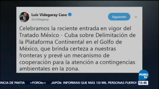 Activan Tratado México Cuba Sobre Delimitación Golfo De México