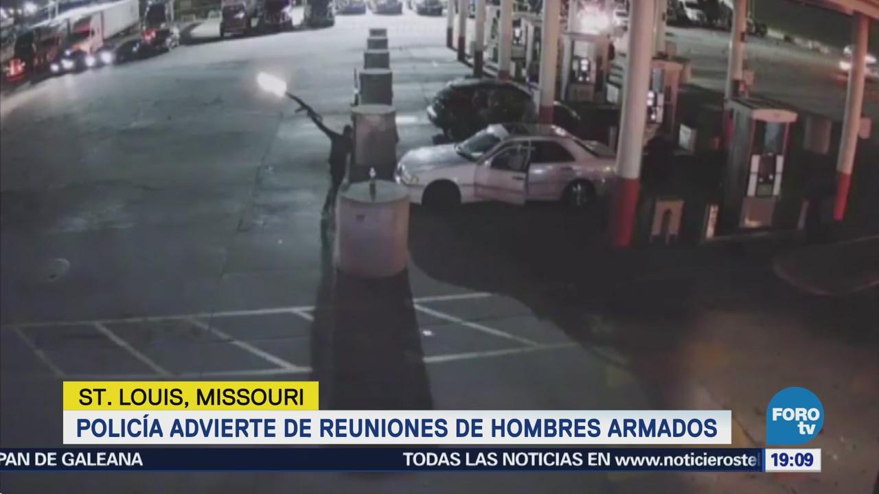 Advierten reuniones hombres armados en Missouri