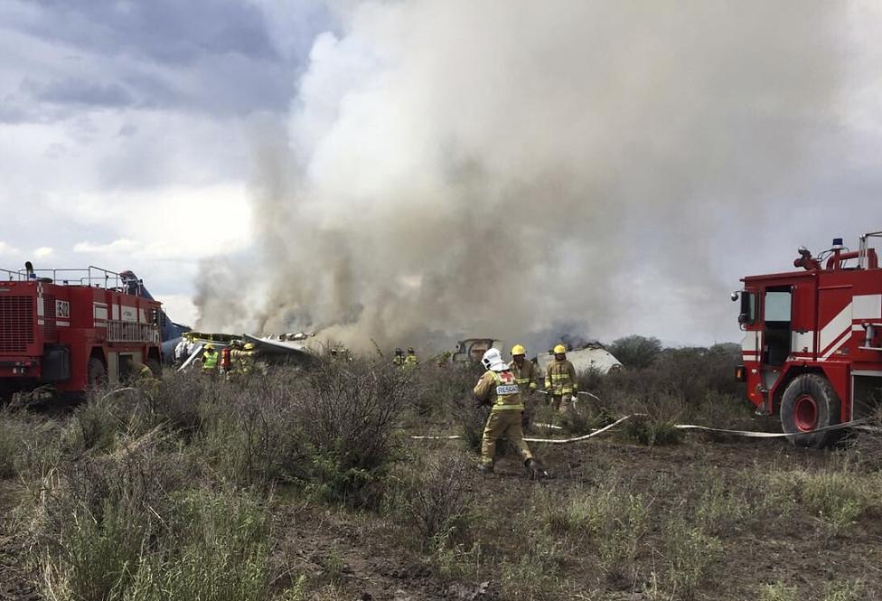 Pasajeros y tripulantes sobreviven a accidente de Aeroméxico