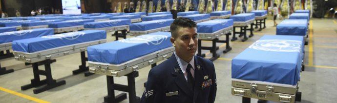 Estados Unidos repatria soldados caídos en Corea del Norte