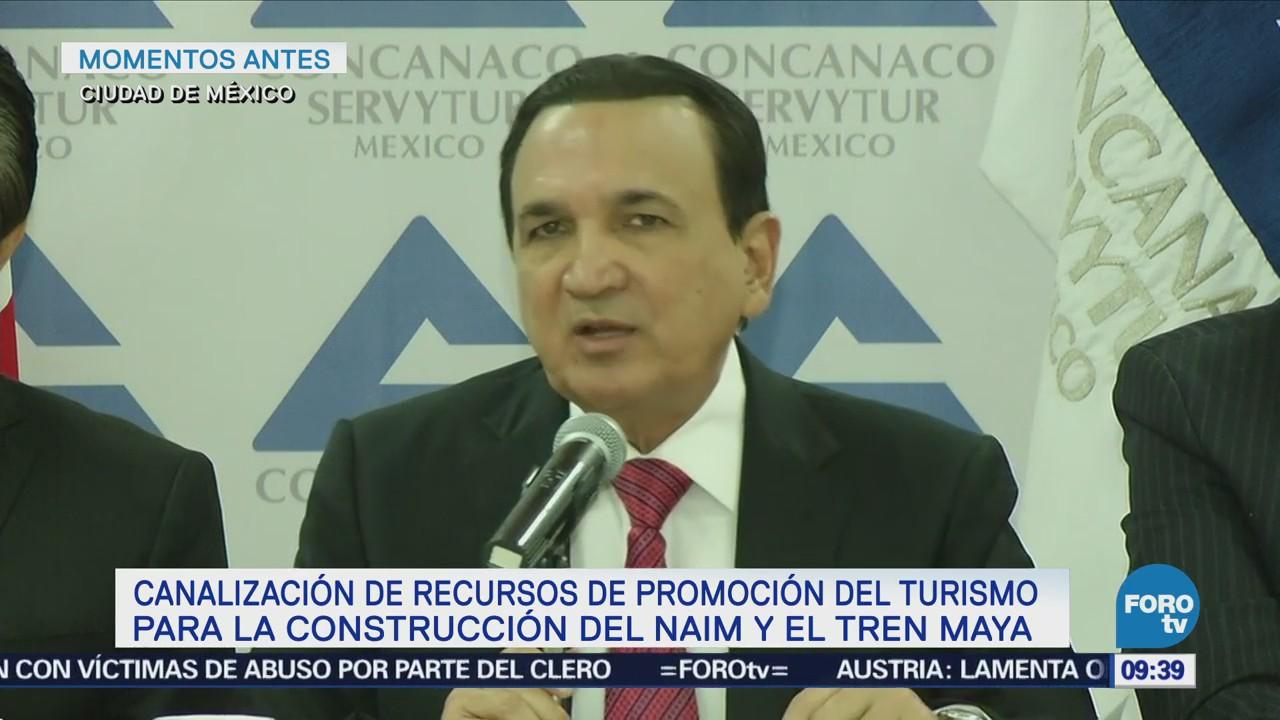 Concanaco Servytur pide utilizar recursos alternativos para megaobras