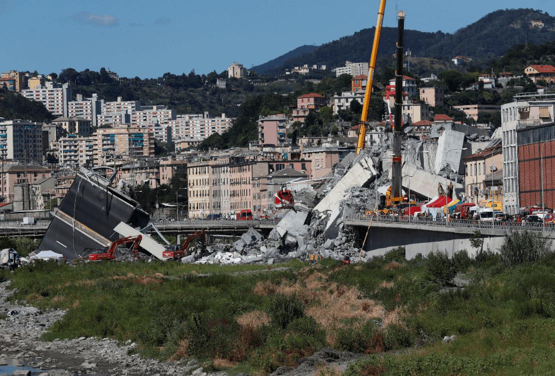 Génova, en estado de emergencia tras derrumbe de puente