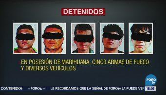 Detienen A 10 Personas Marihuana Armas Delegación Coyoacán, Elementos De La Pgj Cdmx