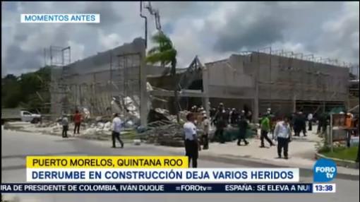 Dos Heridos Graves Derrumbe Puerto Morelos Quintana Roo