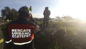 Controlan fuga de gas por toma clandestina en Ecatepec, Estado de México