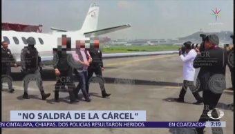 Javier Duarte seguirá preso aunque ya no esté acusado por delincuencia organizada