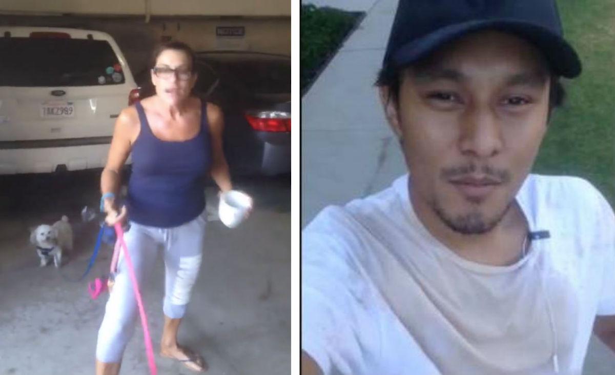 Senora-Racista-Trabajadores-Mexicanos-Lanza-Cafe-Los-Angeles
