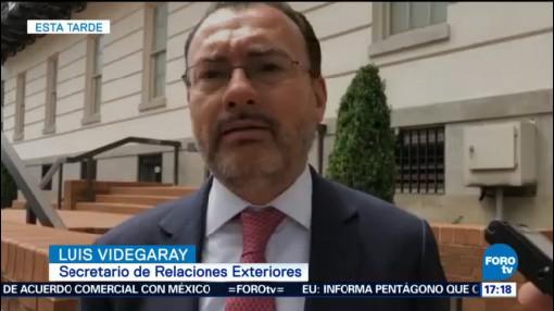 Luis Videgaray Mike Pompeo Secretaria De Relaciones Exteriores SRE