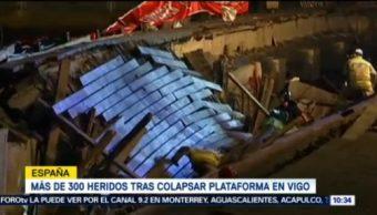 Muelle En Vigo España Desploma 266 Personas Resultaron Heridas Vigo, España