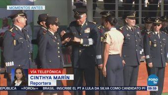 Militares deportistas reciben reconocimiento en la Sedena