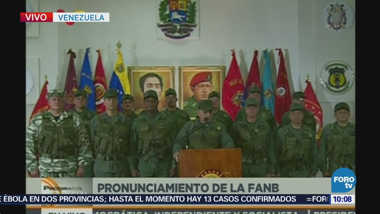 Ministerio de Defensa de Venezuela emite mensaje por presunto ataque contra Maduro