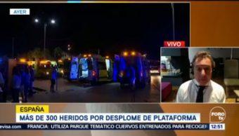 Suman 300 Heridos Desplome Plataforma España