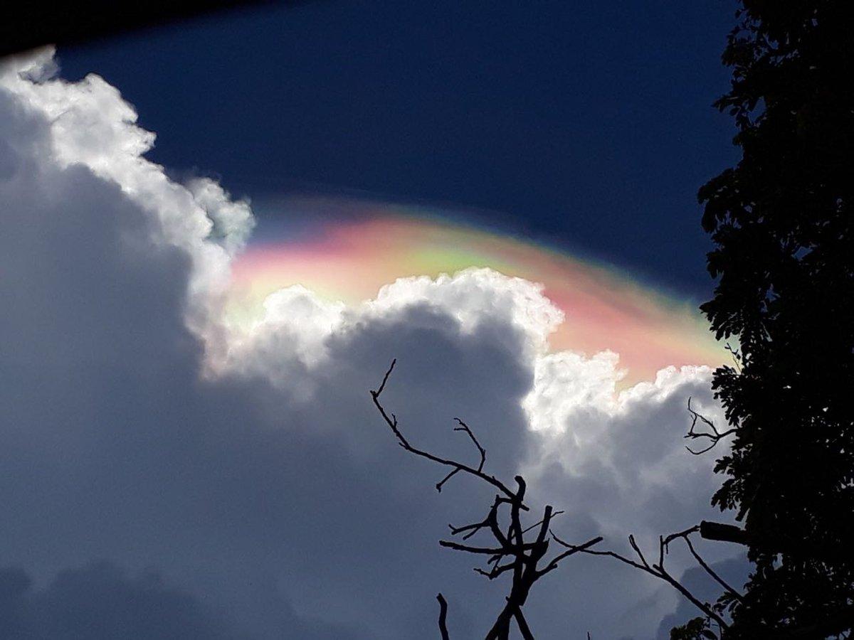 Fenómeno 'Pileus' provoca nubes iridiscentes en Mérida