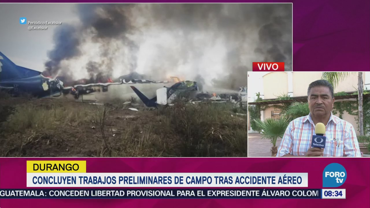 Piloto del avionazo en Durango será trasladado a la CDMX