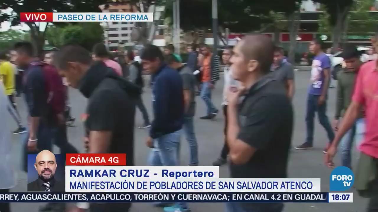 Pobladores de San Salvador Atenco marchan por Reforma