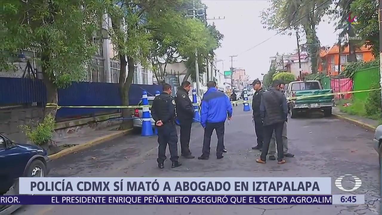 Policía de CDMX mató a abogado en Iztapalapa por incidente