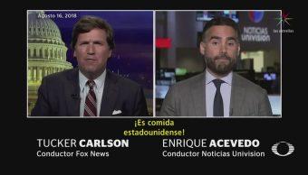 Presentador de Fox asegura que los tacos son estadounidenses