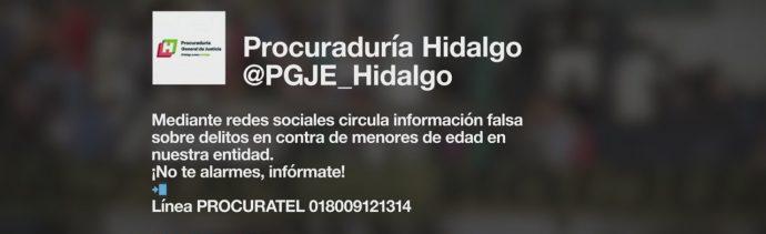 Procuraduría De Hidalgo Advirtió Alerta Falsa Robo De Niños