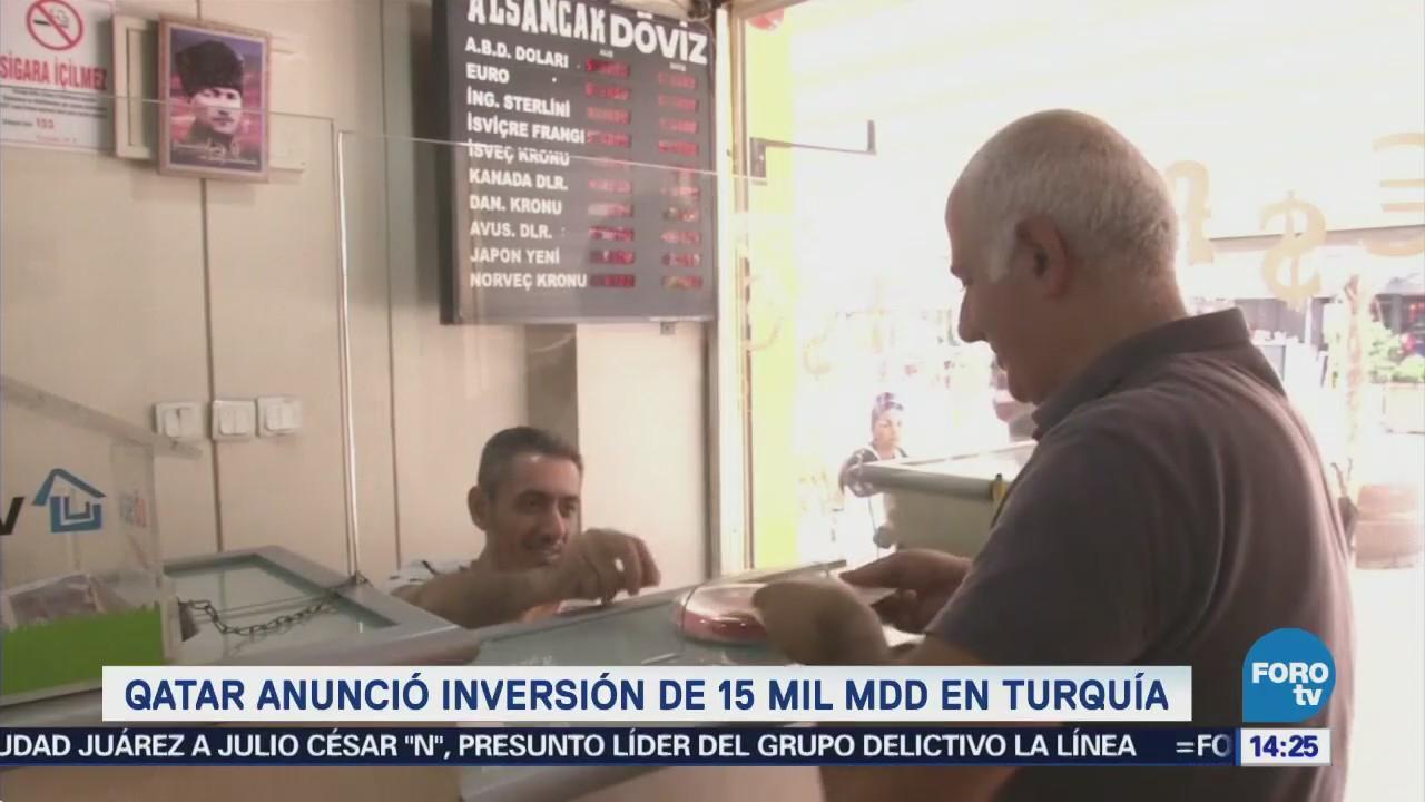Qatar invertirá 15 mil mdd en Turquía