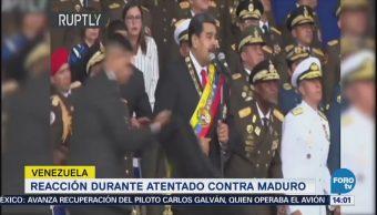 Reacción durante atentado contra Maduro en Venezuela