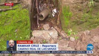 Reportan deslaves en Camino Real de las Minas, delegación Álvaro Obregón