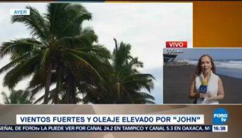 Reportan Oleaje Elevado Colima John