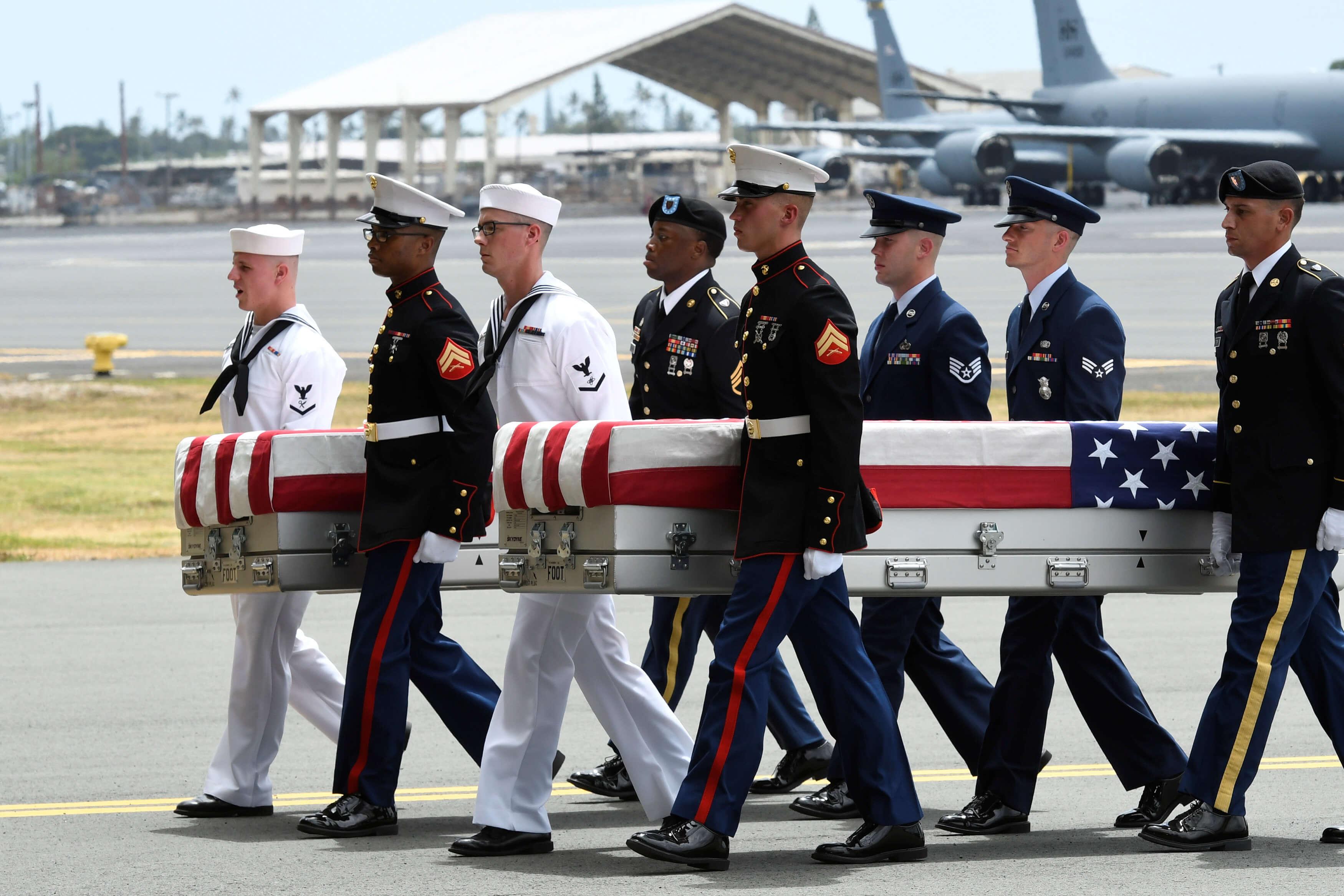 Restos soldados caídos Corea llegan Estados Unidos