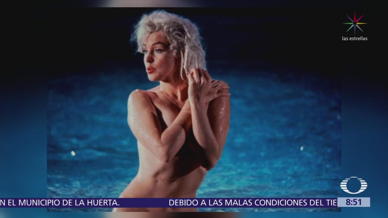 Revelan nuevas imágenes de Marilyn Monroe desnuda